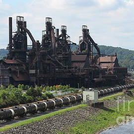 Bethlehem Steelstacks Along The Lehigh by Ken Keener