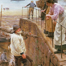 Between the Tides - Walter Langley