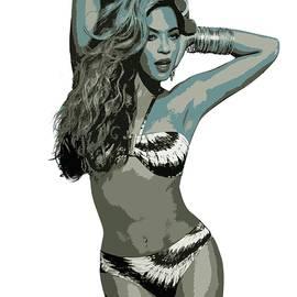 Beyonce Cutout Art by David Dehner