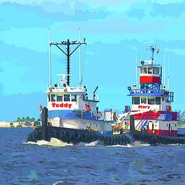 Bff Tug Boats by Susan Molnar