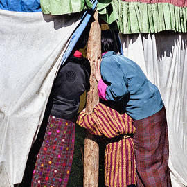 Bhutan Tent Lookers by Paul Vitko