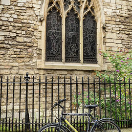 Bicycle At Church by Jean Noren