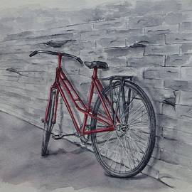 Bicycle in Red by Kelly Mills
