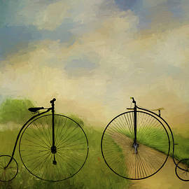 Ericamaxine Price - Bicycle Ride in the Country - Painting