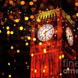 Big Ben Aglow by Digital Art Cafe