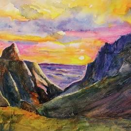 Big Bend Texas Window Trail Sunset by Carlin Blahnik CarlinArtWatercolor