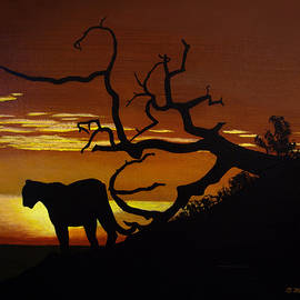 Big Cat Silhouette by Brian Wallace