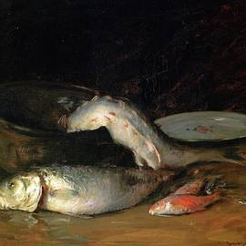William Merritt Chase - Big Copper Kettle and Fish