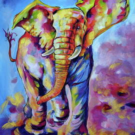 Big cute playing elephant - Kovacs Anna Brigitta