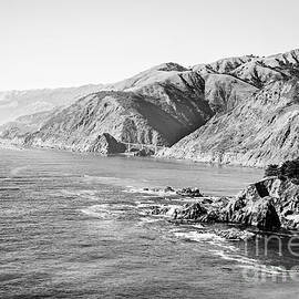 Big Sur Coast - BW by Scott Pellegrin