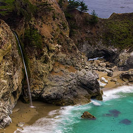 Big Sur Waterfall by Dillon Kalkhurst
