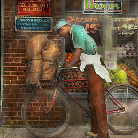 Bike - Delivering groceries 1938 by Mike Savad