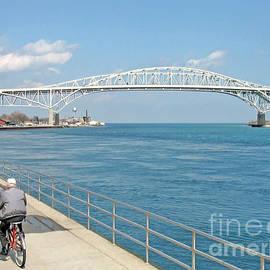 Ann Horn - Biking Near the Blue Water Bridge
