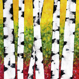 Birch Forest Trees by Christina Rollo