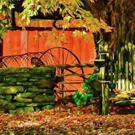 Jeff Folger - Birdhouse chair in autumn