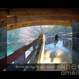 Felipe Adan Lerma - Birds Boaters and Bridges of Barton Springs - Bridges One Greeting Card Poster v2