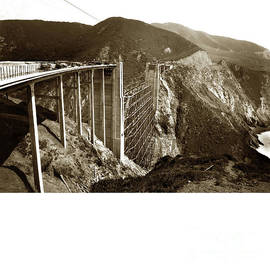 Bixby Creek Bridge Big Sur Calif. 1932 by California Views Archives Mr Pat Hathaway Archives