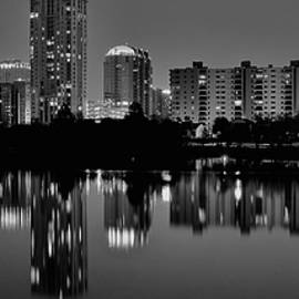 Black and Night Austin Lights by Frozen in Time Fine Art Photography
