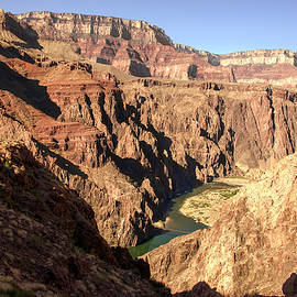 Black And Silver Bridges Spanning The Colorado River  Grand Canyon National Park by NaturesPix