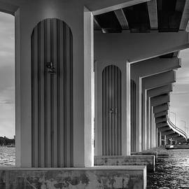Black and White Bridge by Louise Hill