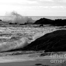 Black and White Crashing  waves in Cabo by Charlene Cox