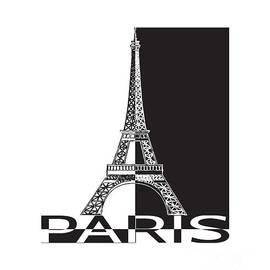 Black and white Eiffel Tower by Yurii Perepadia