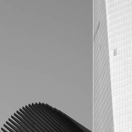 Brooke T Ryan - Black and White Freedom Tower Abstract