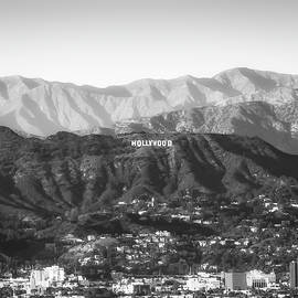 Gregory Ballos - Black and White Hollywood Hills California - Square Art