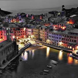 Frozen in Time Fine Art Photography - Black and White Night but Still Colorful City