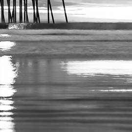 Black And White Ocean Beach Waves by Gregory Ballos