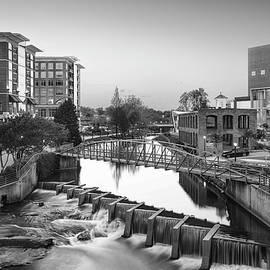 Stamp City - Black and White of Downtown Greenville