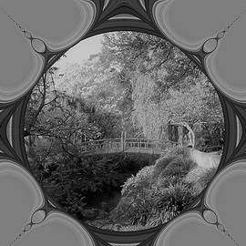 Nancy Pauling - Black and White of the Little Red Bridge