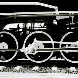 Black And White Steam Train by Shaun Higson