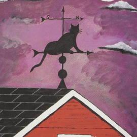 Jeffrey Koss - Black Cat Weathervane