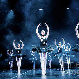 Black-dressed Ballet Dancers by Keith Morris