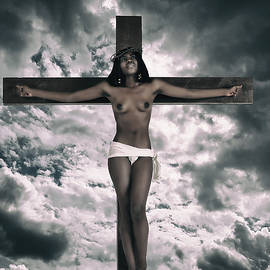 Ramon Martinez - Black Female Jesus on cross