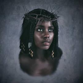 Black Jesus Portrait V by Ramon Martinez