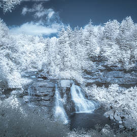 Blackwater Falls In Infrared by Guy Whiteley