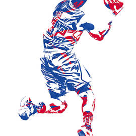 BLAKE GRIFFIN LOS ANGELES CLIPPERS PIXEL ART 20 - Joe Hamilton