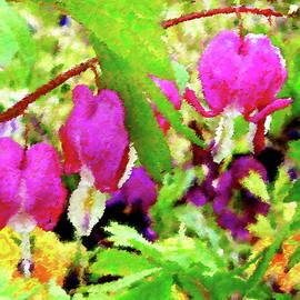 Bleeding Hearts Abstract by Dana Roper