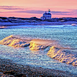 Block Island North Light by George Moore