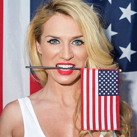 Amyn Nasser - Blonde and American Flag