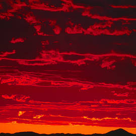 Blood Red Sunset by Bob Neiman