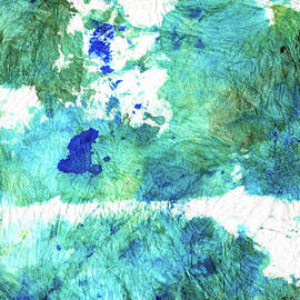 Blue And Green Abstract - Imagine - Sharon Cummings by Sharon Cummings