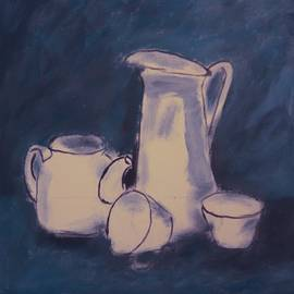 Blue and White. Still Life by Jacob R