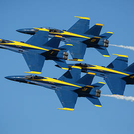 Blue Angels Diamond Formation by Adam Romanowicz