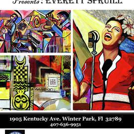 Everett Spruill - Blue Bamboo Poster