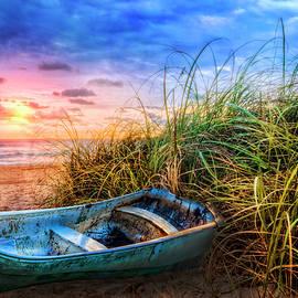 Debra and Dave Vanderlaan - Blue Boat at the Seashore
