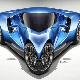 Blue Car 01 by Rafael Salazar