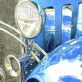 Blue Car by Tammie Painter